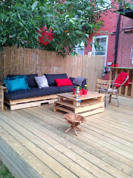 Terrasse exterieure en palettes | ♥Inspiration, coups de coeur & creation♥ | Scoop.it