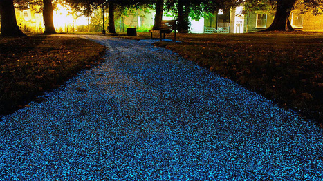 Este barniz hace que al asfalto brille en la oscuridad   Cemento   Scoop.it