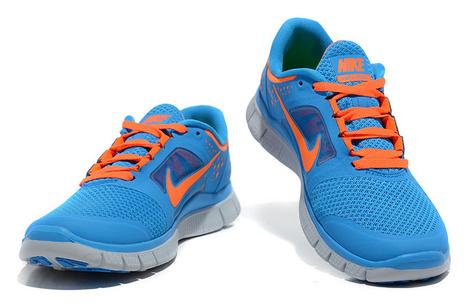 Nike Free Run 3 Womens Blue Orange for Sale Buy Now | Fashion world! | Scoop.it