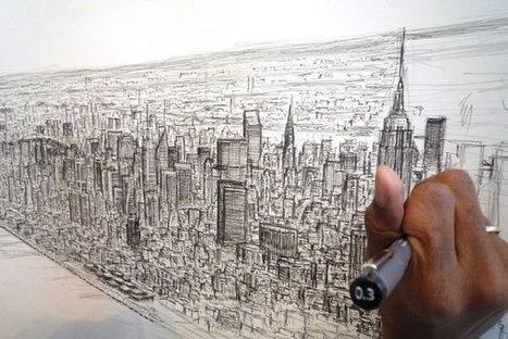 Hombre autista dibuja la ciudad de Nueva York usando su memoria fotográfica   Woratek - Tecnología que te ayuda   Cosas que interesan...a cualquier edad.   Scoop.it