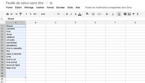 Rechercher des mots clés avec Google Drive | Time to Learn | Scoop.it