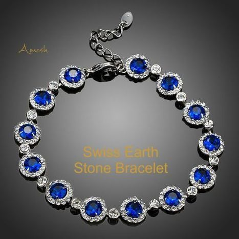 This delightful 18k white gold bracelet is set with 13 Sparkling Blue Swiss Cubic Zirconias as a definate eyecatcher - Vanuatu | Real Estate | Scoop.it