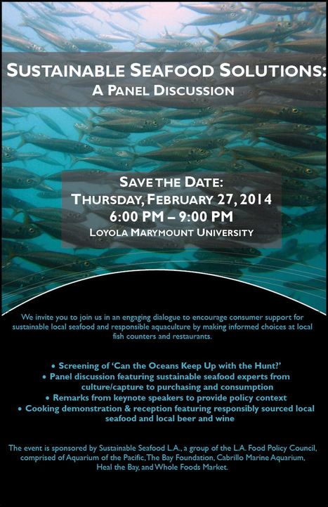 EVENT: Sustainable Seafood Solutions | Los Angeles Food Policy ... | Aqua Events & e-Publications | Scoop.it