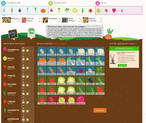 Cultivez votre potager virtuel et récoltez de (vrais) fruits et légumes locaux | Des 4 coins du monde | Scoop.it