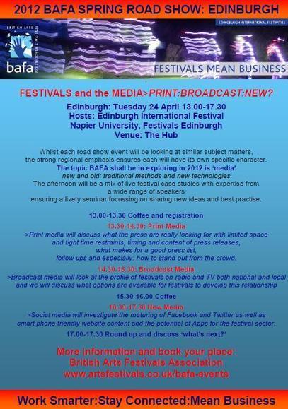Bafa events | British Arts Festivals Association | Culture Scotland | Scoop.it