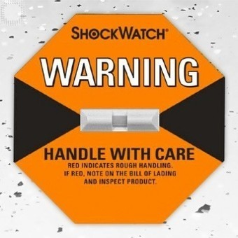 Orange Shockwatch + shipping labels included (50box) | Plastic Packaging Products | Scoop.it