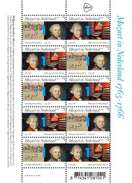 Verblijf Mozart in Nederland herdacht met postzegelvel - Blokboek - Communication Nieuws | BlokBoek e-zine | Scoop.it