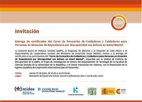 Twitter / andresscagliola: Culmina otro curso de formación ... | Proyecto UPCARING | Scoop.it