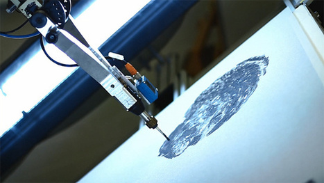 e-David: A Painting Robot That Can Even Sign Its Own Name | The Creators Project | Translucent Worlds | Scoop.it