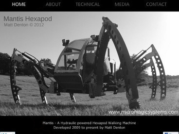Mantis - Matt Denton's 2.2 Litre Turbo Diesel Powered Hydraulic Hexapod | Hardware Tech | Scoop.it