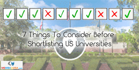 7 Things To Consider Before Shortlisting US Universities | Profile Evaluation| University Search| Discussion Forum | Scoop.it