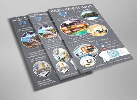 Création et impression flyers trilingues Irles Invest Immo | Agence Point Com | Scoop.it