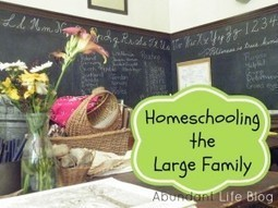 Homeschooling the Large Family - Abundant Life   How to Homeschool in Canada   Scoop.it
