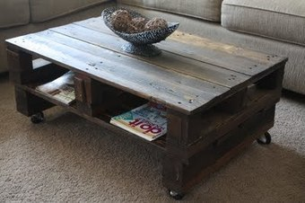 Wilsons and Pugs: Pallet Coffee Table | UpCycle | Scoop.it