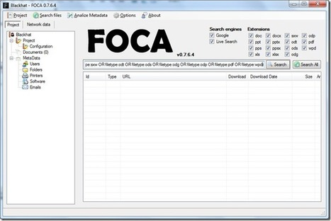 Security and Networking - Blog - Metadata Enumeration with FOCA | opexxx | Scoop.it
