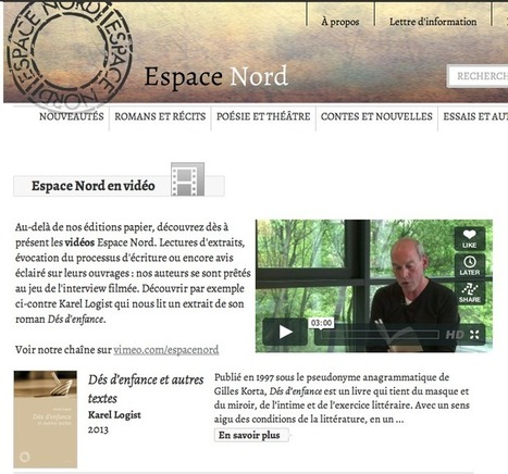 Espace Nord : une collection numérique en devenir - Actualitté.com | Enseignement TICE | Scoop.it