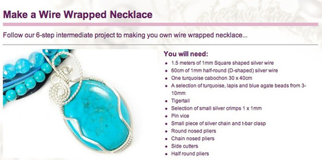 Its a Wrap! Free wire wrapping jewellery project from LJS   Making Wire Jewelry   Scoop.it
