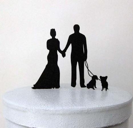 Silhouet Kagetop brudepar og kæledy - Prinsessens Bryllup | Bordpynt Til Bryllup, Invitationer Til Bryllup | Scoop.it