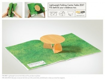 I Believe in Advertising | ONLY SELECTED ADVERTISING | Advertising Blog & Community » Furniture showcase: Folding Shelf, Folding Table, Folding Chair | others | Scoop.it