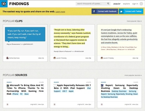 Find, Collect and Share Your Favorite Quotes with Findings | teaching with technology | Scoop.it