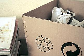 Corbeille en carton à fabriquer pour récupérer les matériaux recyclables du collège   Club créativité   Scoop.it