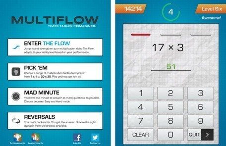 Daily iPad App: Multiflow helps you hone your child's multiplication skills | iPads, MakerEd and More  in Education | Scoop.it