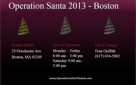 Operation Santa Participating USPS Office List 2013 – Boston | Operation Santa Claus - Santa's Blog | Christmas and Winter Holidays | Scoop.it