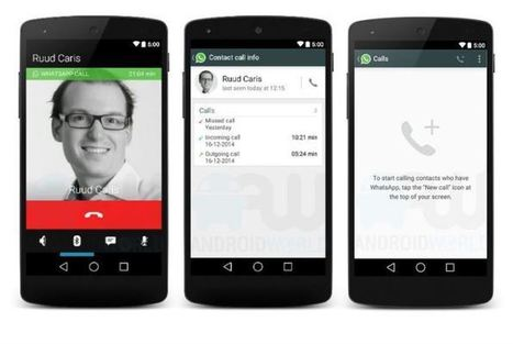 This is probably what WhatsApp voice calling will look like | tech | Scoop.it