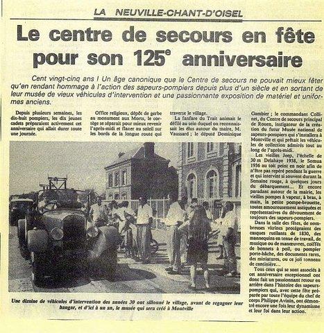 150 ans des sapeurs pompiers le 10 mai 1990 à La Neuville Chant d'Oisel | MaisonNet | Scoop.it