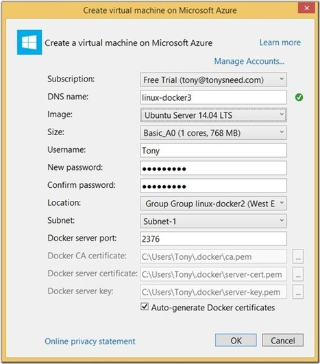 Deploy ASP.NET 5 Apps to Docker on Azure | Tony Sneed's Blog | HoangITK | Scoop.it