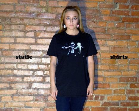 Daft Punk Shirt | Pulp Fiction Themed TShirt | Band Electronic Music Clothing | Fashion Shirt | Scoop.it