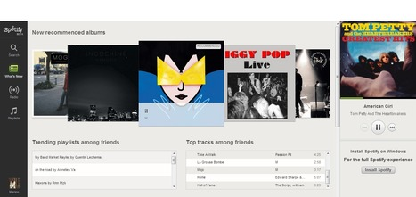 On a testé pour vous : la version web de Spotify | Services musicaux B2C | Scoop.it