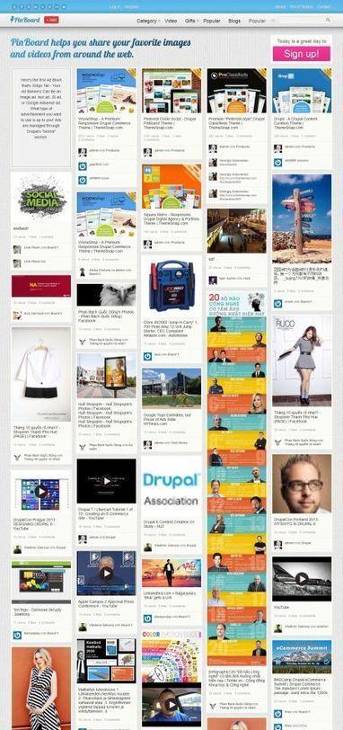 PinBoard Pinterest Clone Drupal Theme   Premium iThemes   Themes & Templates   Scoop.it