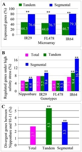 PLOS ONE: Comparative Genomic and Transcriptomic Analysis of Tandemly and Segmentally Duplicated Genes in Rice | my universe | Scoop.it