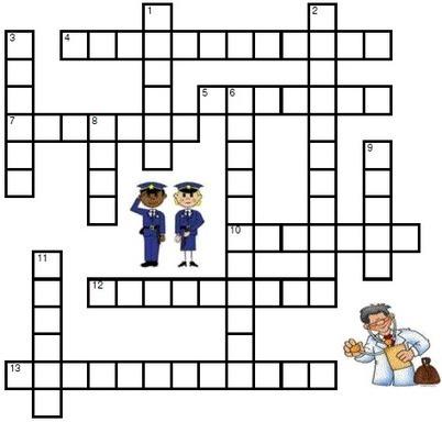 Jobs Crossword Learning Basic English