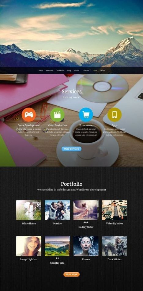 parallax wordpress   Premium iThemes   Themes & Templates   Scoop.it