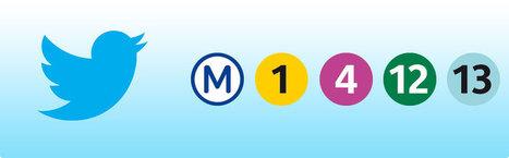 Etat du trafic : toutes les lignes de métro sont sur Twitter (MàJ) | Geeks | Scoop.it