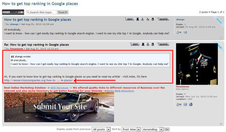 How to Get Top Ranking in Google Places | Marketing & Finance | Scoop.it