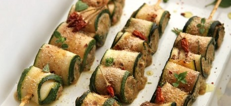 Spiedini di zucchine e melanzane con paté di ceci e olive | Veganismo.it | Alimentazione Naturale, EcoRicette Veg e Vegan | Scoop.it