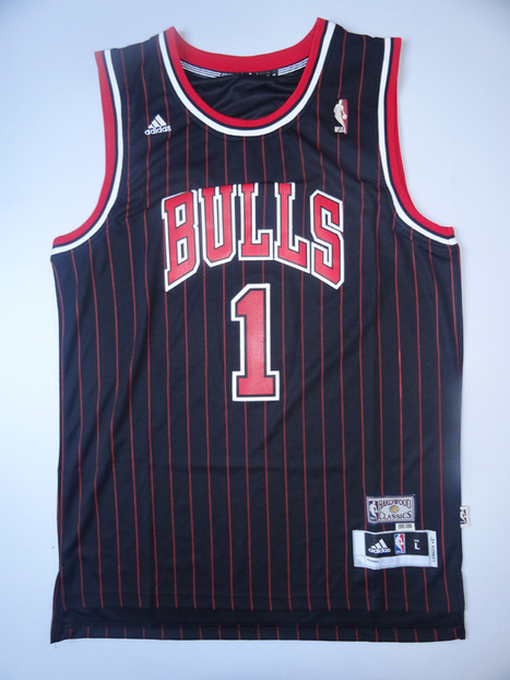 Chicago Bulls #1 Rose Swingman Jerseys-Blackand Red | news image | Scoop.it