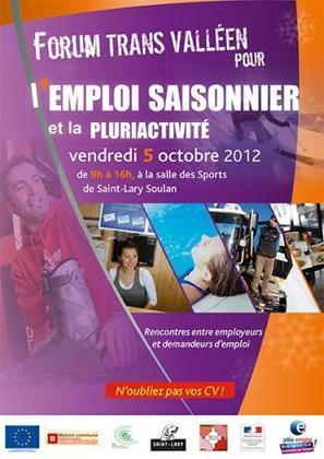Pôle emploi événements - Événements | Détails de l'événement :: Forum trans valléen pour l'emploi saisonnier et la pluriactivité | SAINT LARY | Scoop.it