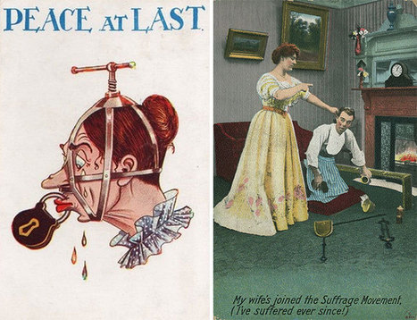 20 Unbelievable Anti-Feminism Propaganda Postcards From The 1900s   Vivre ensemble   Scoop.it