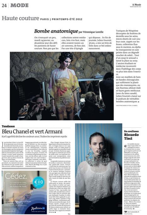 LE MONDE 26 janvier 2012 | Julien Fournié | Scoop.it