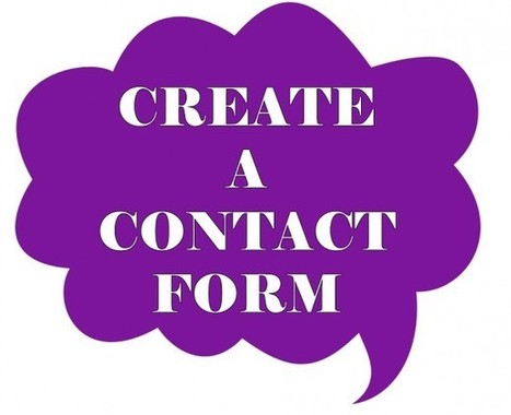 How to Create a Contact Me Form For Your Blog - The SITS Girls | Internet Entrepreneurship Tips to Make Money Online | Scoop.it