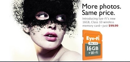 Eye-Fi gets larger and faster with 16GB Class 10 Wi-Fi SD card: Digital Photography Review | Photography Gear News | Scoop.it