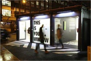 Boxpark, 1er pop-up mall : une révolution ? Le premier pop-up shopping mall du monde a ouvert à Londres | Retail Design Review | Scoop.it
