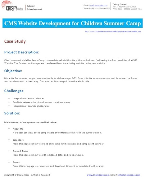 CMS Website Development for Children Summer Camp   Web & Mobile Application Development (OPS)   Scoop.it