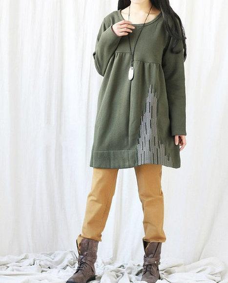 Fall Women Coat Long Sleeves Shirt dress | women's fashion | Scoop.it