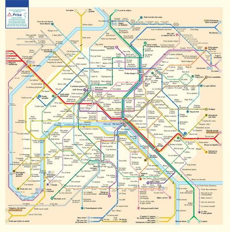 Le métro de Paris sous forme d'anagrammes. | Français Langue étrangère | Scoop.it