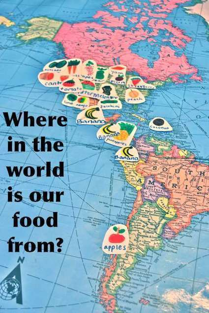 Where in the World is your Food From? | Kid World Citizen | Connect All Schools | Scoop.it